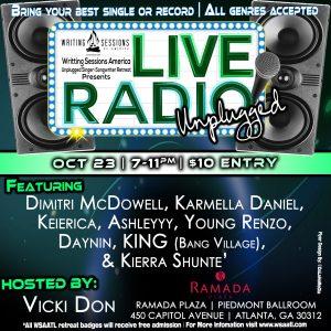 Live Radio flyer